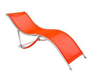Tumbona Sling de textileno y aluminio – Naranja