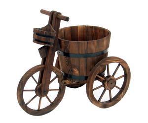 Triciclo jardinera de madera de abeto – marrón