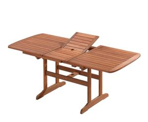 Mesa extensible de madera de meranti – Marrón