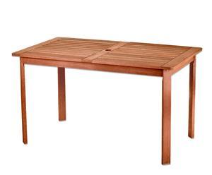 Mesa rectangular de madera meranti– Marrón