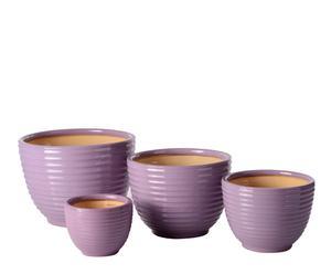 Set de 4 macetas– púrpura