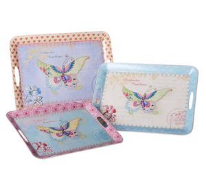 Set de 3 bandejas de Mariposas