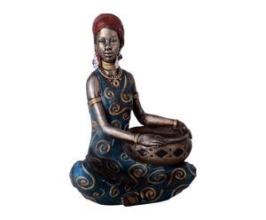 Figura africana de resina – azul