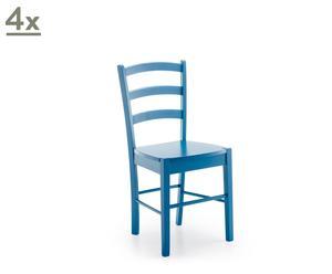 Set de 4 sillas Provenza – azul