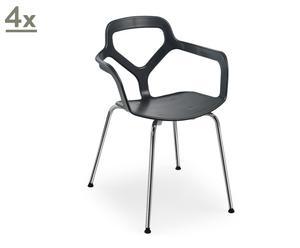 Juego de 4 sillas Calgary - negro