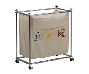 Contenedor tela, plástico y tela - crudo