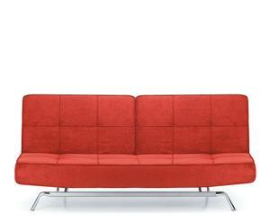 Sofá cama abatible - rojo