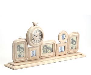 Set de 6 marcos y 1 reloj