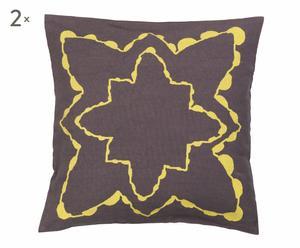 Set de 2 cojines Nordic - amarillo