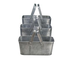 Set de 3 cestas con asas