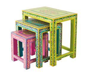 Set de 3 mesas nido – multicolor