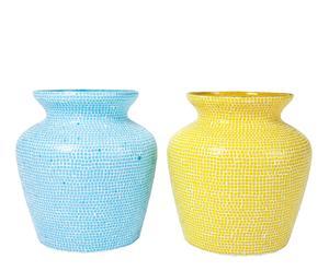 Set de 2 jarrones Mosaico
