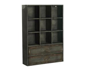 Armario con 9 estantes y 2 cajones