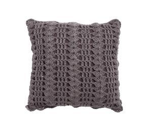 Cojín de crochet – gris
