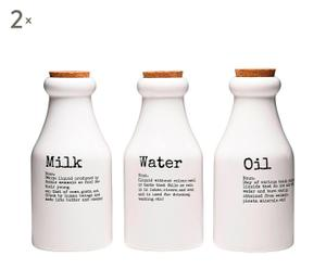 Set de 6 botellas de almacenaje