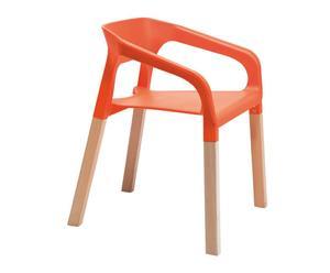 Set de 4 sillas Rack – naranja