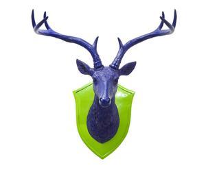 Cabeza de ciervo - Azul y verde