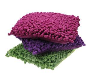 Set de 3 cojines Bobbel Pop - Lila, verde y lila oscuro