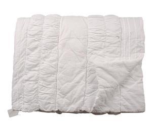 Edredón con chantilly de algodón – blanco