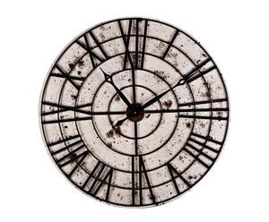 Reloj de pared de Metal – crema y marrón