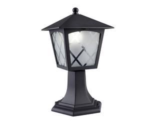 Lámpara de sobremuro con 1 luz – gris