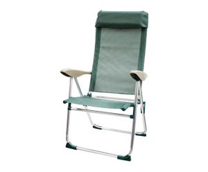 Silla de playa reclinable – verde