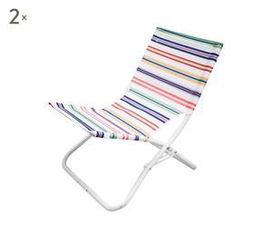 Set de 2 sillas de playa a rayas