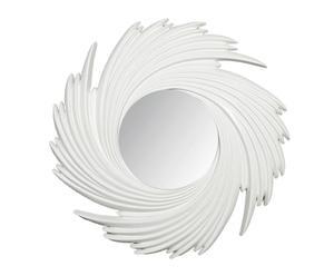 Espejo espiroidal de resina y vidrio – blanco