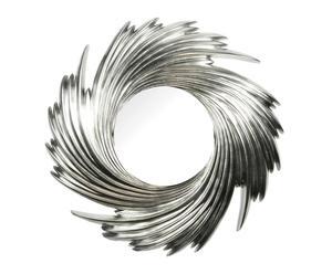 Espejo espiroidal de resina y vidrio - plata