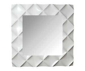 Espejo cuadrado Rombos – blanco