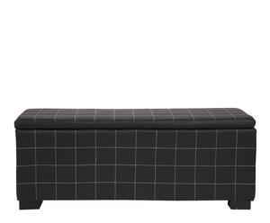 Baúl rectangular – negro
