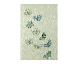 Cuadro con mosaico de mariposas – verde y beige