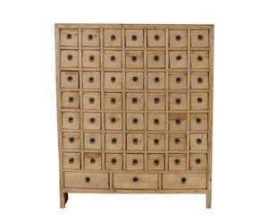 Armario de farmacia de madera de pino - natural