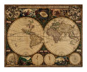 Lienzo mapamundi vintage