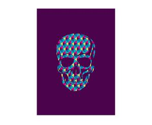 Lienzo Skull Purple – multicolor