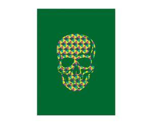 Lienzo Skull Militar – multicolor