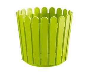 Jardinera de plástico, Redonda – Verde