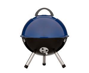 Barbacoa esférica, acero esmaltado - Azul y negro