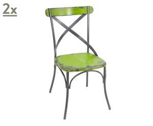 Set de 2 sillas - verde