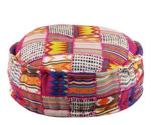 Puf patchwork, grande – Multicolor