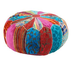 Puf patchwork, mediano – Multicolor