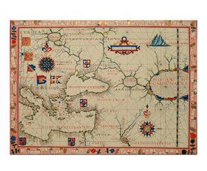 Lienzo Mapa náutico de Europa (1750)