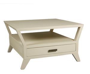 Mesa de centro con 1 cajón – blanco