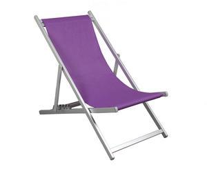 Tumbona de aluminio – púrpura