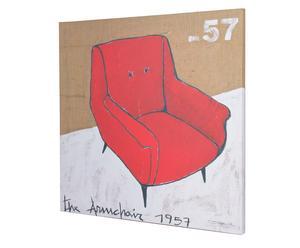 cuadro impresión digital sillón – rojo
