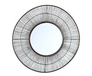 Espejo de metal – marrón