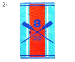 Set de 2 toallas de playa de Algodón Remos – Multicolor