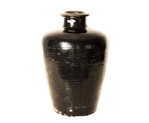 Vasija de cerámica – negro