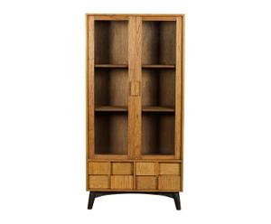 Mueble vitrina de madera de mindi - Marrón natural