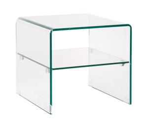 Mesa auxiliar cuadrada – transparente